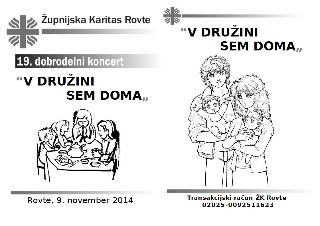 Zloženka Zahvala Karitas Rovte
