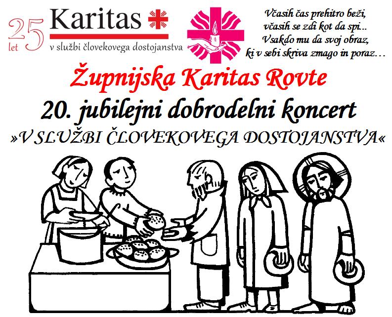 Župnijska Karitas Rovte 20. jubilejni dobrodelni koncert 8.11.2015