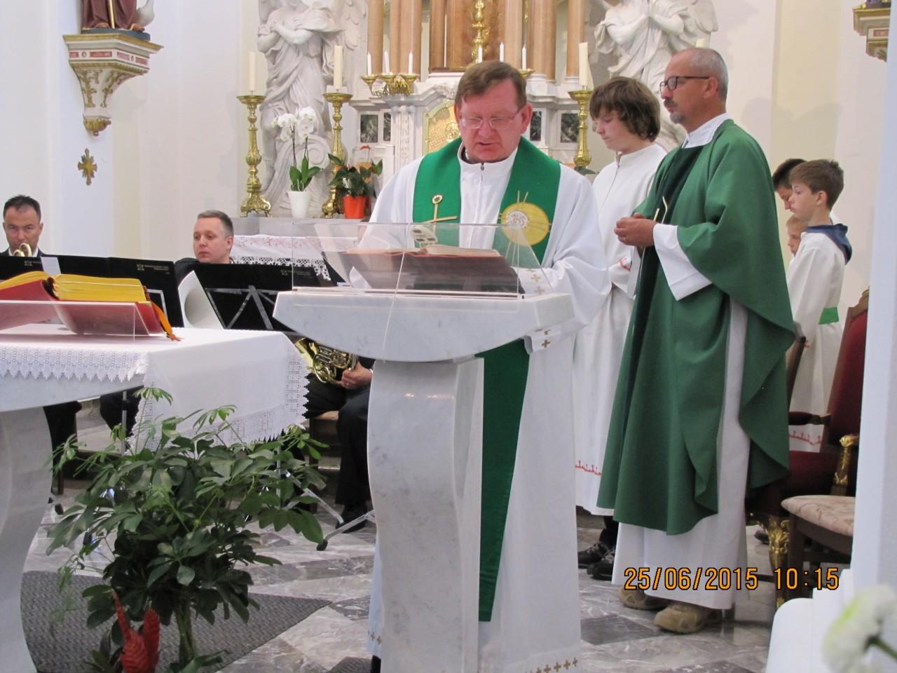 Evangelij, Janez Petrič, domači župnik