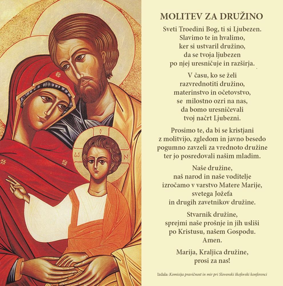 Molitev za družine - Družinski referendum 20. december 2015