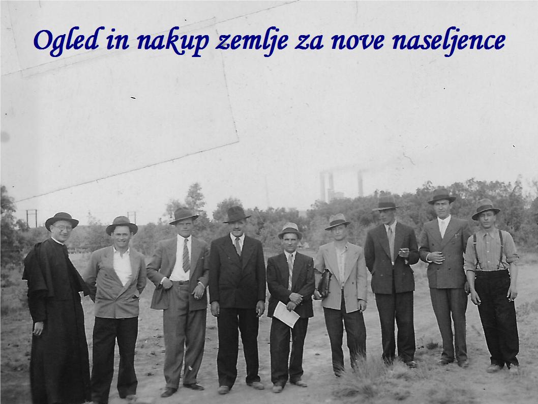 Janez Hladnik organiziral ogled in nakup zemlje za nove naseljence
