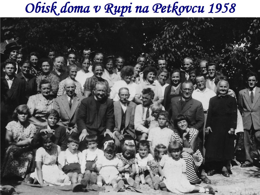 Janez Hladnik, obisk doma v Rupi na Petkovcu 1958