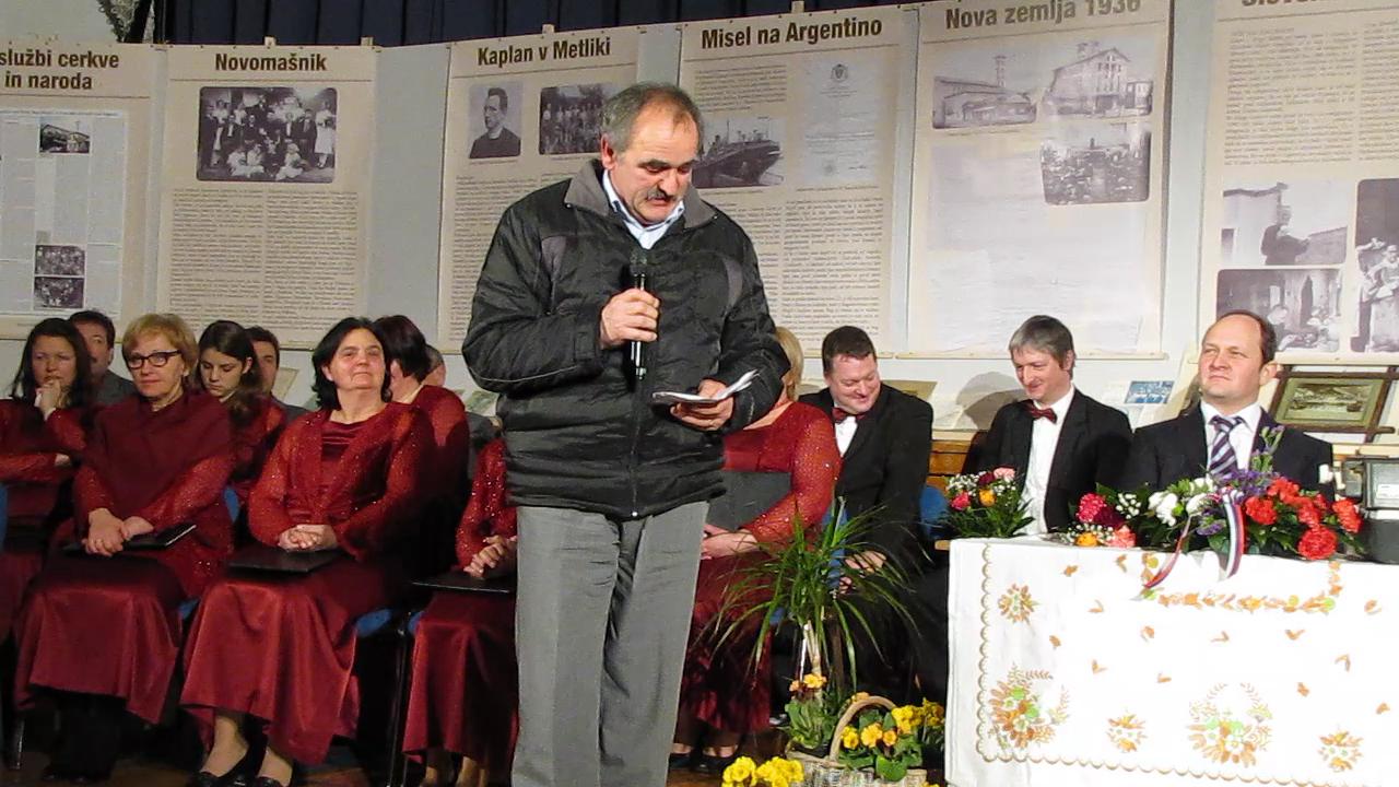Hladnikov večer.  Zahvala Ignac Hladnik v imenu sorodnikov, vsem ki so kakorkoli pripomogli za prikaz dela msgr. Janeza Hladnik