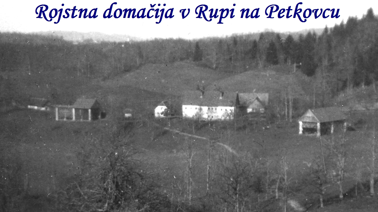 Rojstna domačija v Rupi na Petkovcu