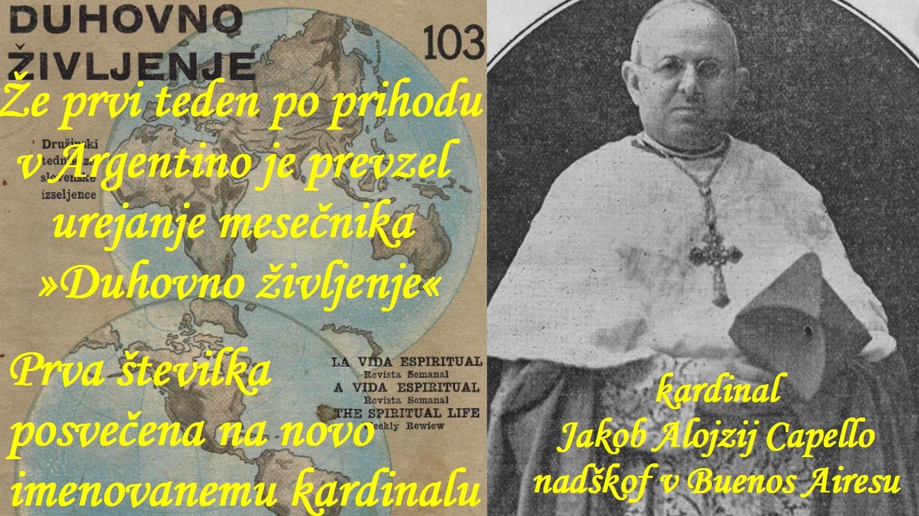 Pred prihodom v Argentino sta izšli že 102 številki. Tudi Hladnik je revijo dobival že v Zagreb in Kostanjevico. 6. marca 1936 je izšla 103. številka, ta pa že pod njegovim vodstvom.