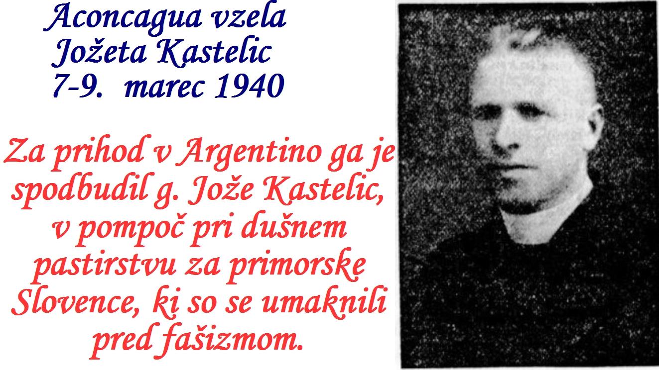 V začetku marca leta 1940 se je v Andih smrtno ponesrečil gospod Kastelic. Tako je Hladnik ostal sam.